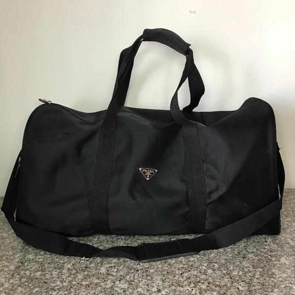 5751b21abe1a Prada nylon duffle bag. Listing Price: $170.00